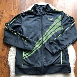 Puma boys zipup track jacket large (14-16)